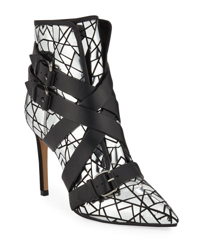 Jackie Mirror Buckle Boots