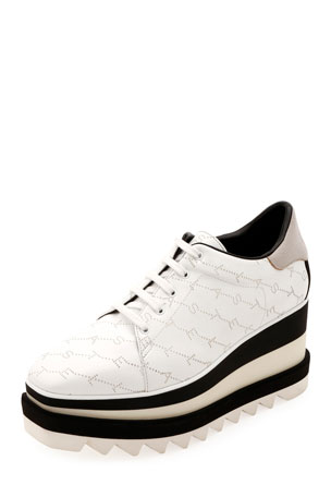Stella McCartney Sneakelyse Lace-Up Platform Sneakers