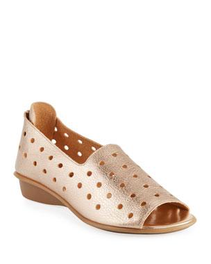 8a33a2d8bca Sesto Meucci Edwina Perforated Leather Slip-On Flats