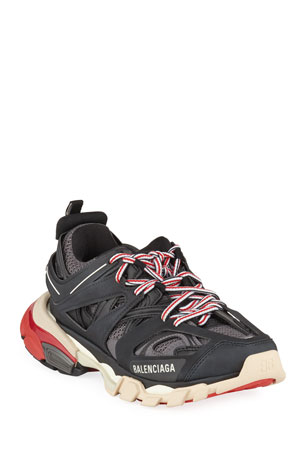 Balenciaga Track Colorblock Mixed Sneakers, Gris Noir