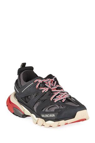 Balenciaga Track Colorblock Mixed Sneakers, Gris Noir