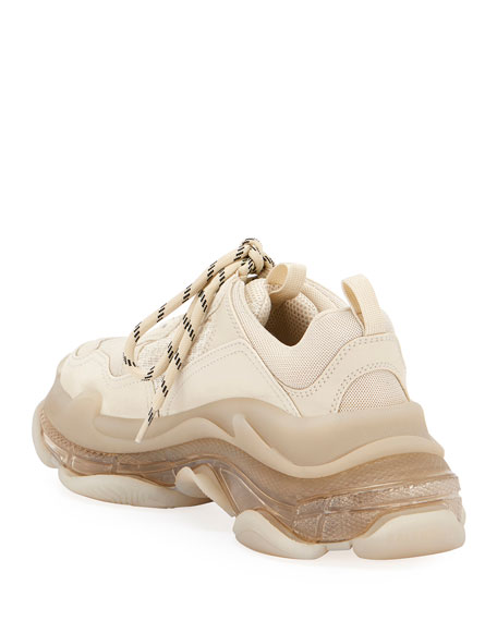 Balenciaga Triple S Air Nylon Sneakers with Logo