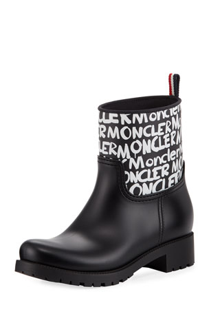 Moncler Ginette Stivale Logo Rain Boots