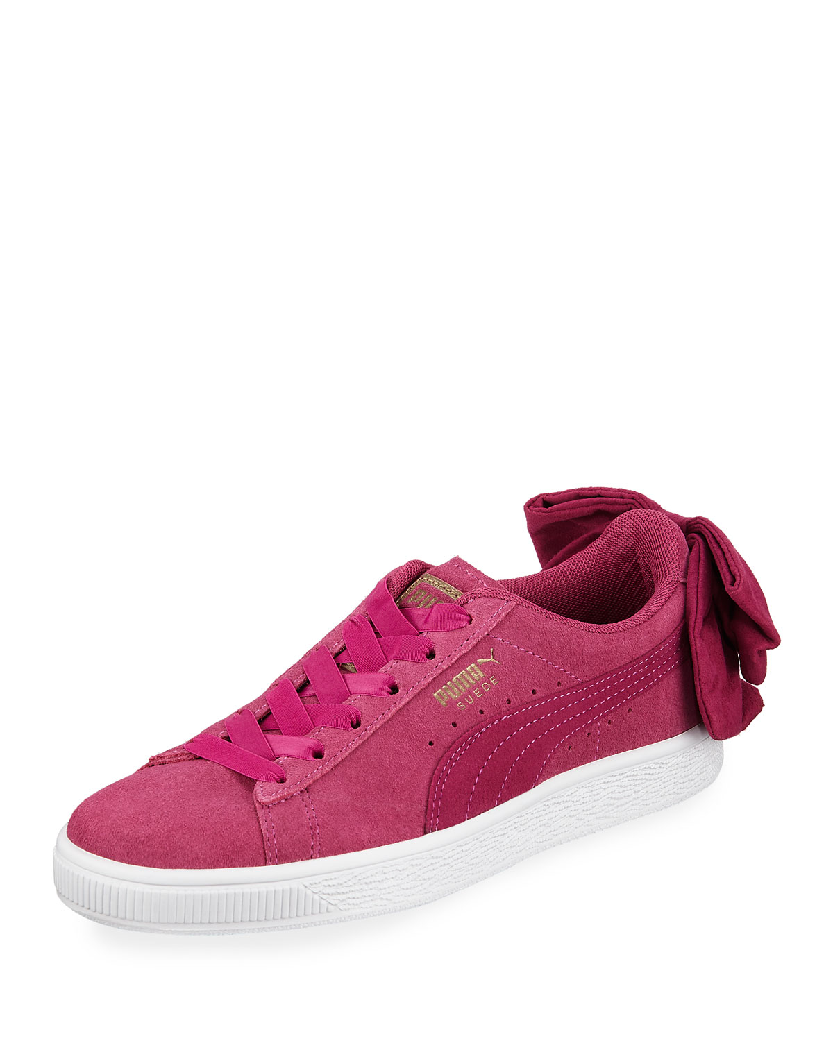 e7c25832dc79 Puma Women s Basket Suede Bow Sneakers