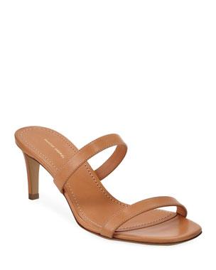 7f980aa96d5f Mansur Gavriel Skinny 2-Strap Slide Sandals
