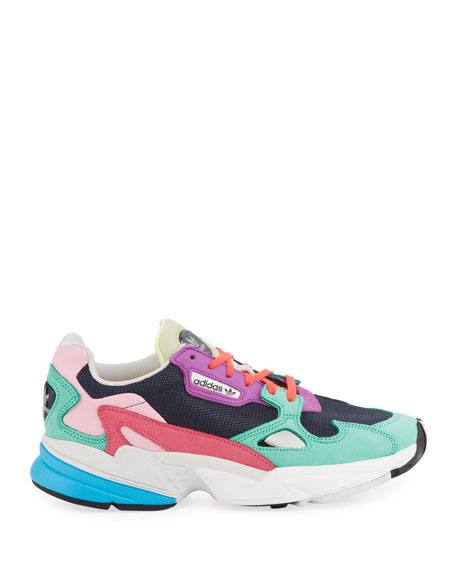 Adidas Falcon Colorblock Leather Running Sneakers