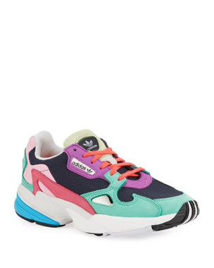 e5376f87c5af6 Adidas Falcon Colorblock Leather Running Sneakers