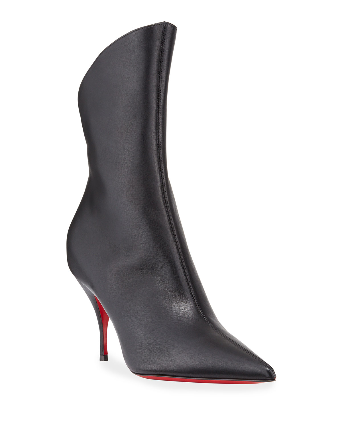 79dd7484d7b Clare Pointed-Toe Red Sole Booties