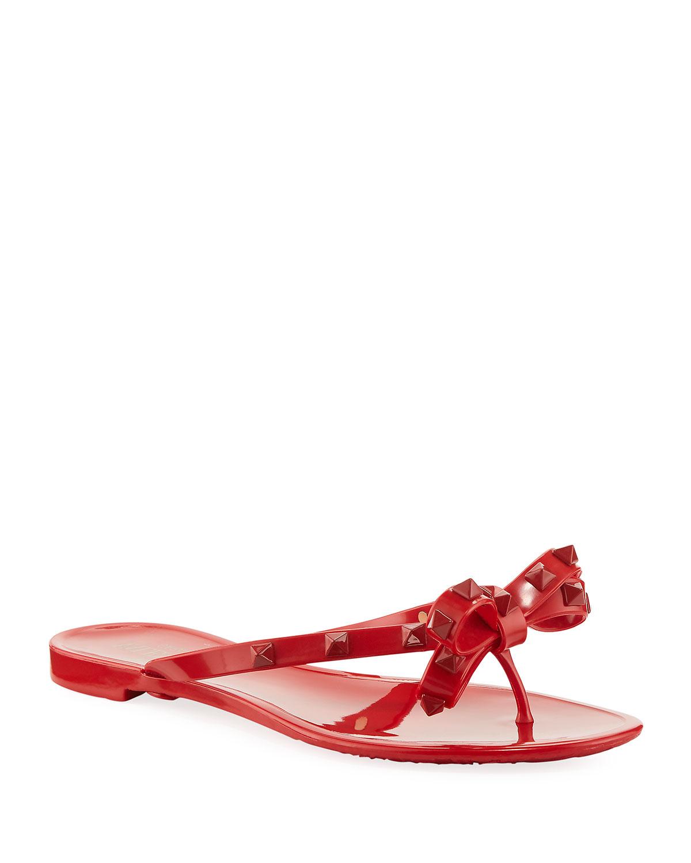 653c71a25fa Valentino Garavani Rockstud PVC Jelly Thong Sandal