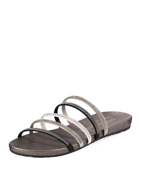 Pedro Garcia Gala Crystal-Embellished Strappy Sandals
