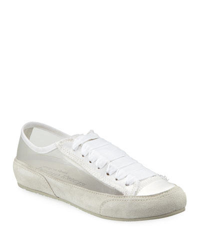 Parson Lace-Up Silk Tulle Sneakers