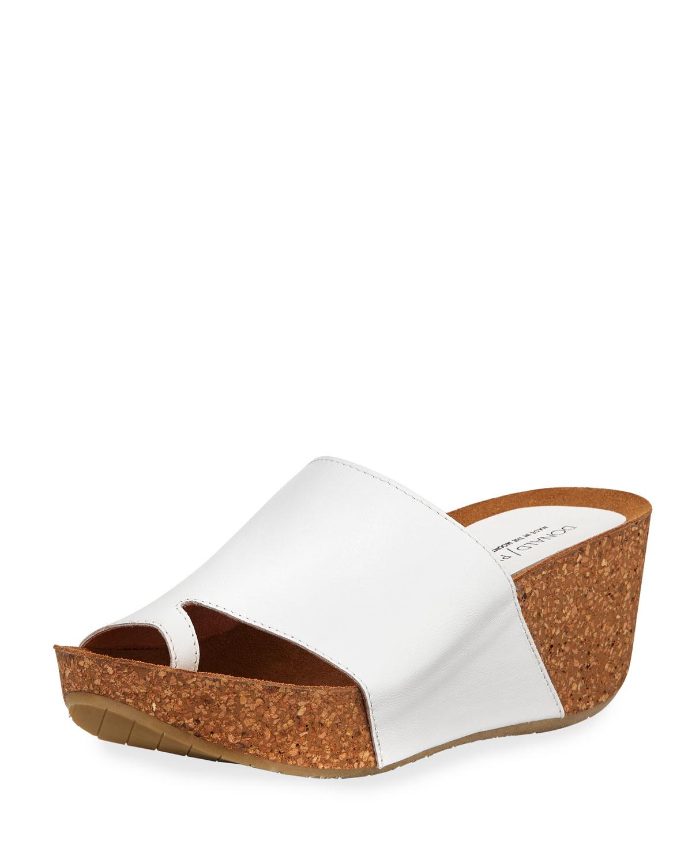 7cc3a098898 Donald J Pliner Ginie Napa Leather Wedge Slide Sandals