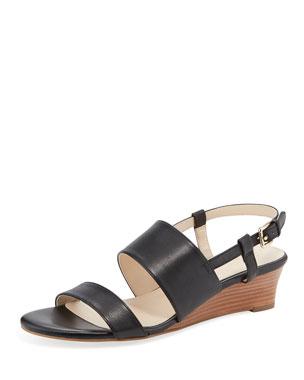 4c22c1ca96c Cole Haan Annabel Grand Leather Wedge Sandals