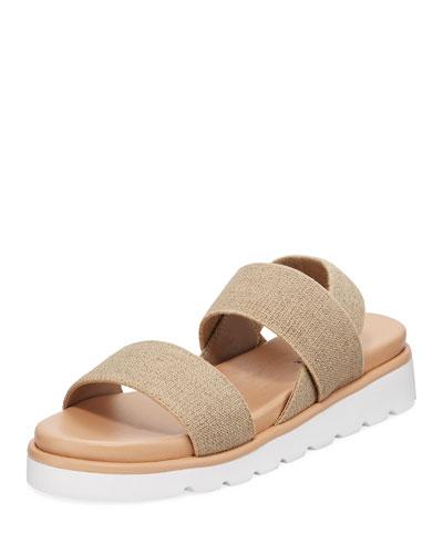 Lue Stretch-Strap Flatform Sandals