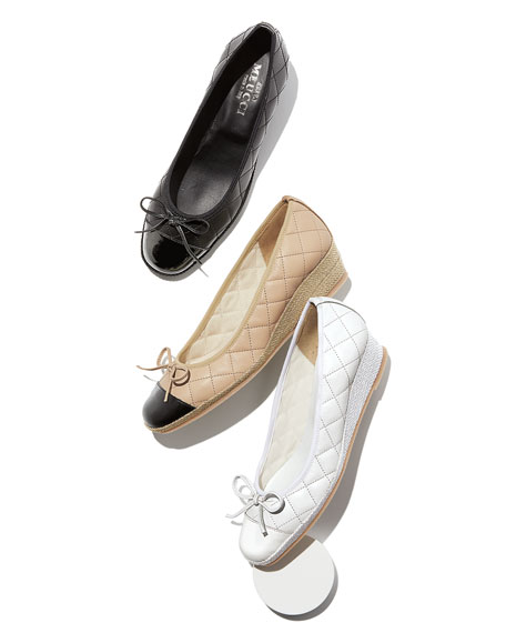 Sesto Meucci Madi Quilted Demi-Wedge Pumps