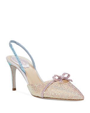Rene Caovilla Strass Crystal-Embellished Bow Pumps 0e0228d4034e