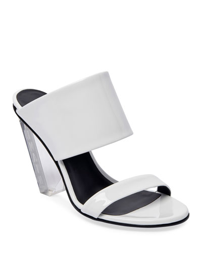 Lory Shiny Slide Sandals