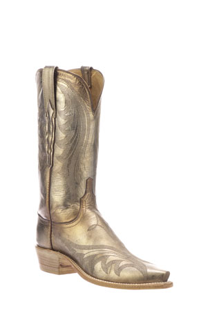 Lucchese Lily Metallic Western Boots (Made to Order)