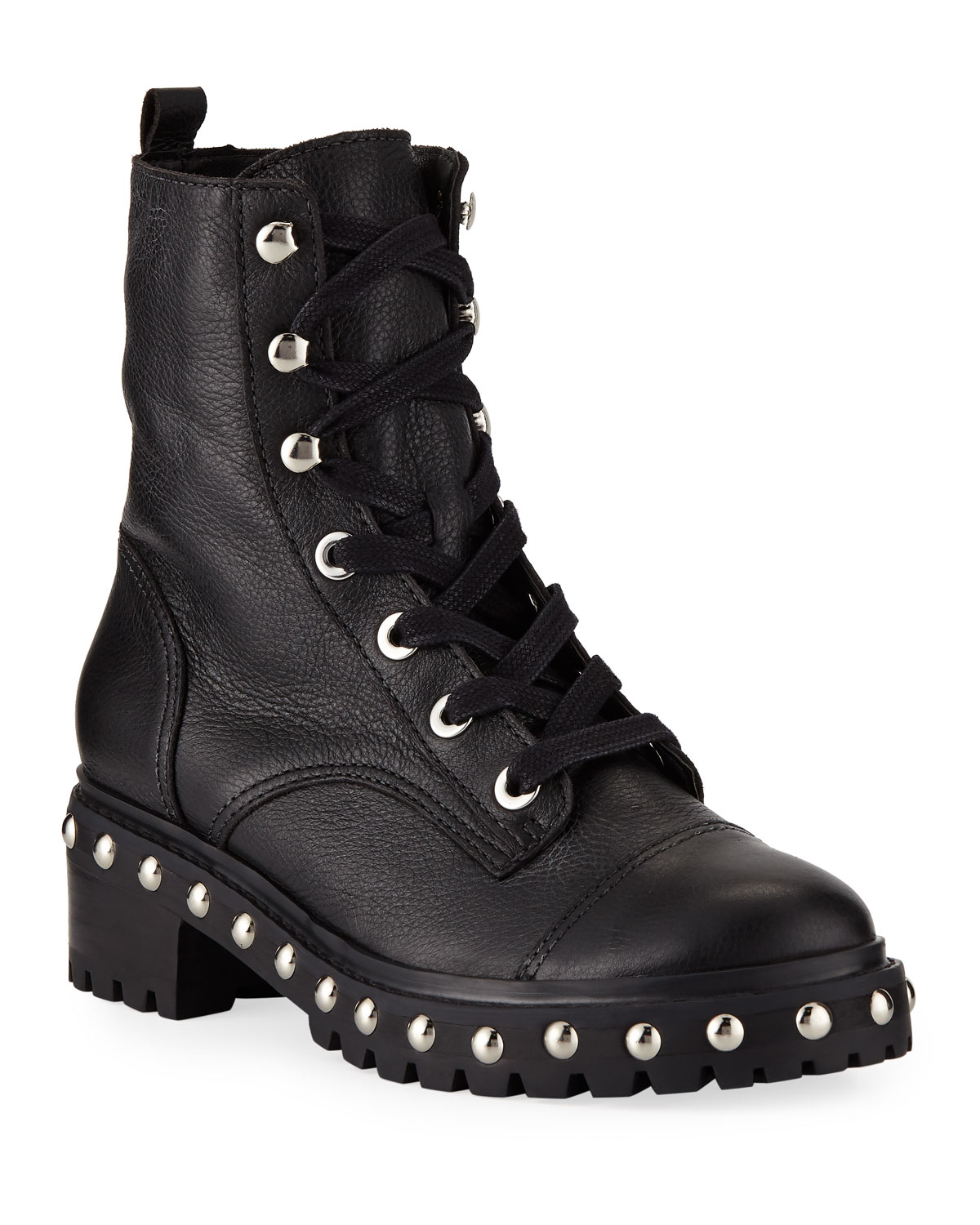 9ddcf484e6 Schutz Andrea Studded Leather Combat Boots