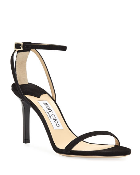 Jimmy Choo Minny Suede Ankle Sandals