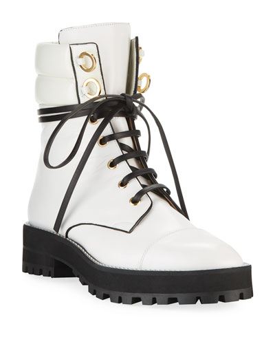 Lexy Leather Combat Boot