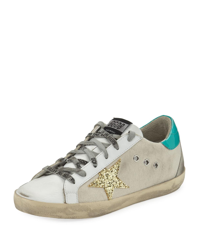 ccbc62c74c4 Golden Goose Superstar Mixed Low-Top Sneakers