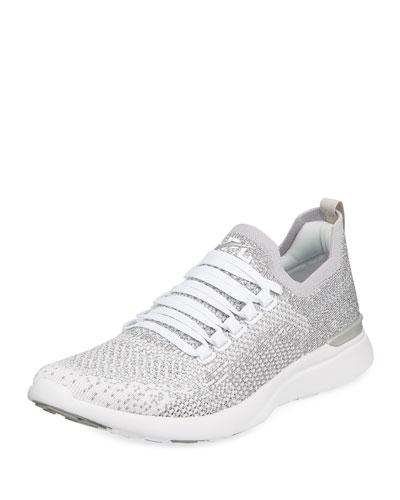 Techloom Breeze Metallic Knit Mesh Running Sneakers
