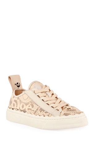 Chloe Lauren Logo Lace Low-Top Sneakers