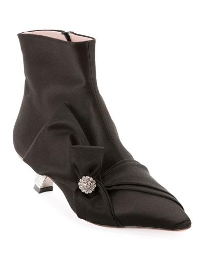 Lavaliere Crystal-Heel Booties