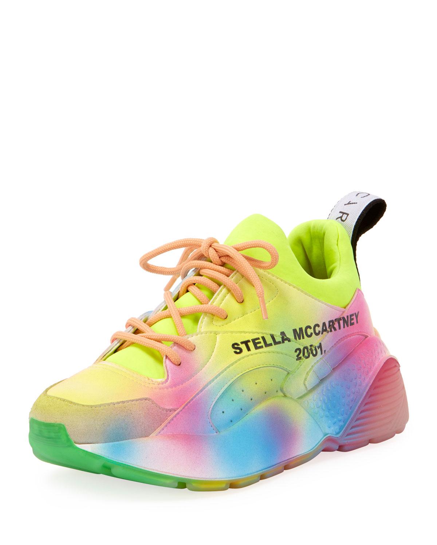 Stella McCartney Rainbow Eclypse Platform Sneakers