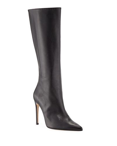 Porto Leather Stiletto Knee Boots