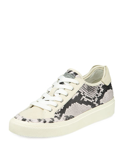 Army Python-Print Leather Low-Top Sneakers