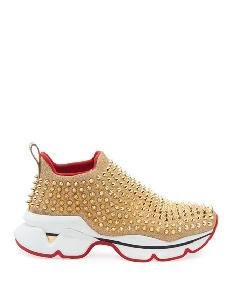 Christian Louboutin Spike Sock Red Sole Sneakers