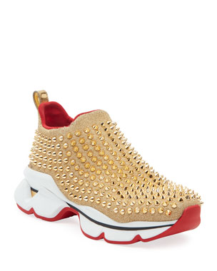 premium selection 47c2d f19fc Christian Louboutin Spike Sock Red Sole Sneakers