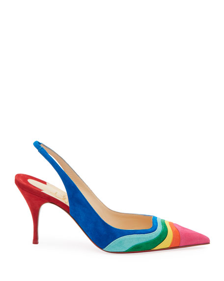 Christian Louboutin Degradama Suede Red Sole Pumps