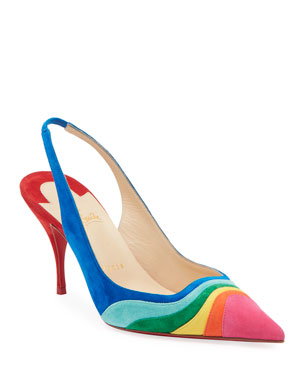 706c12585d4a Christian Louboutin Degradama Suede Red Sole Pumps