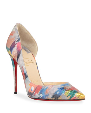 39d659830ac Christian Louboutin Iriza Metallic Satin Red Sole Pumps