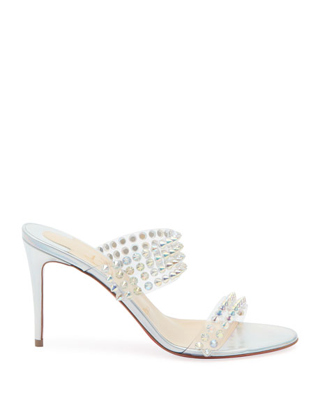 Christian Louboutin Spikes Only 85 Red Sole Slide Sandals