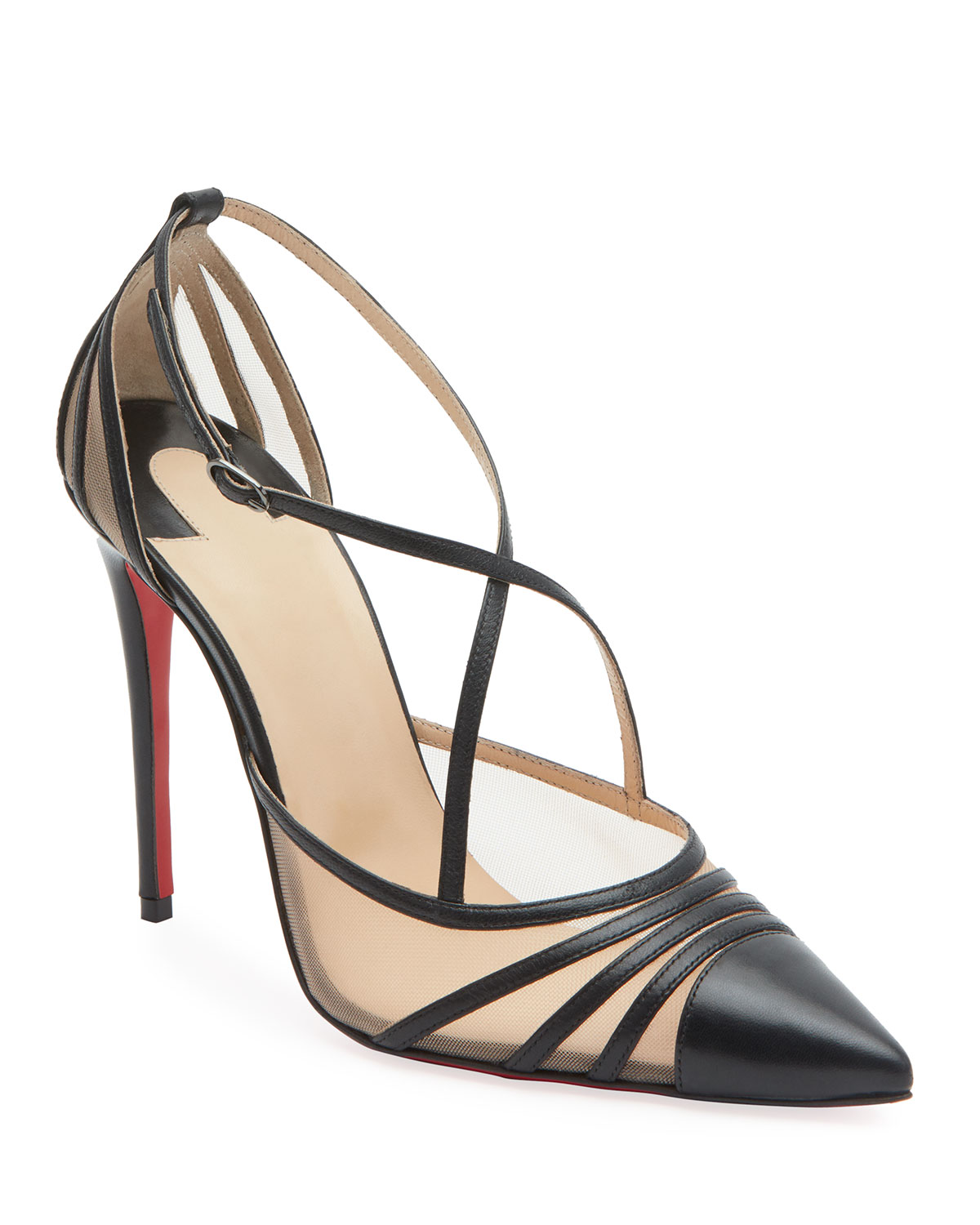 2797fe264c7a Christian Louboutin Theodorella Strappy Red Sole Pumps