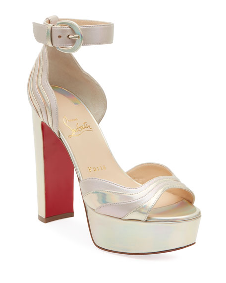 Christian Louboutin Degratissimo Platform Red Sole Sandals
