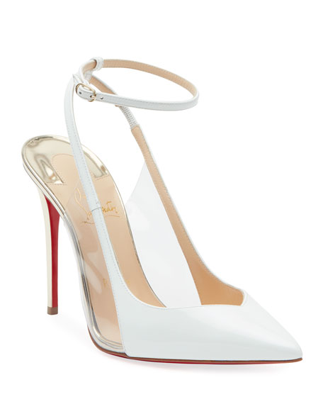 Christian Louboutin Optichoc Leather/PVC Red Sole Pumps