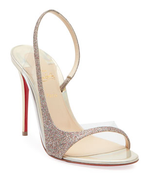 4aa0ab2a479f Christian Louboutin Optisling Glitter Red Sole Sandals