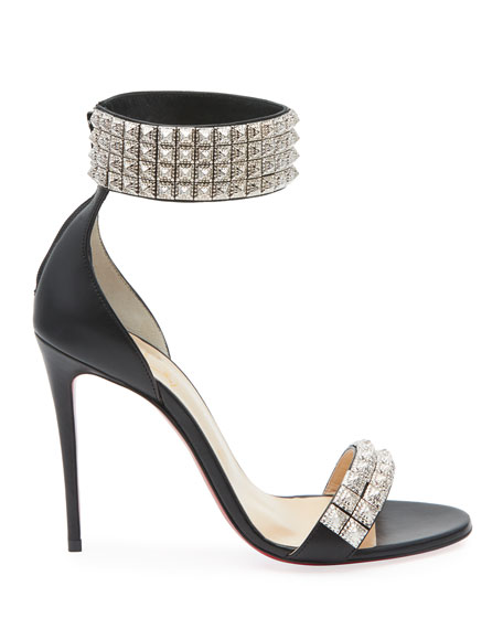 Christian Louboutin Priydora Napa Spike Red Sole Sandals