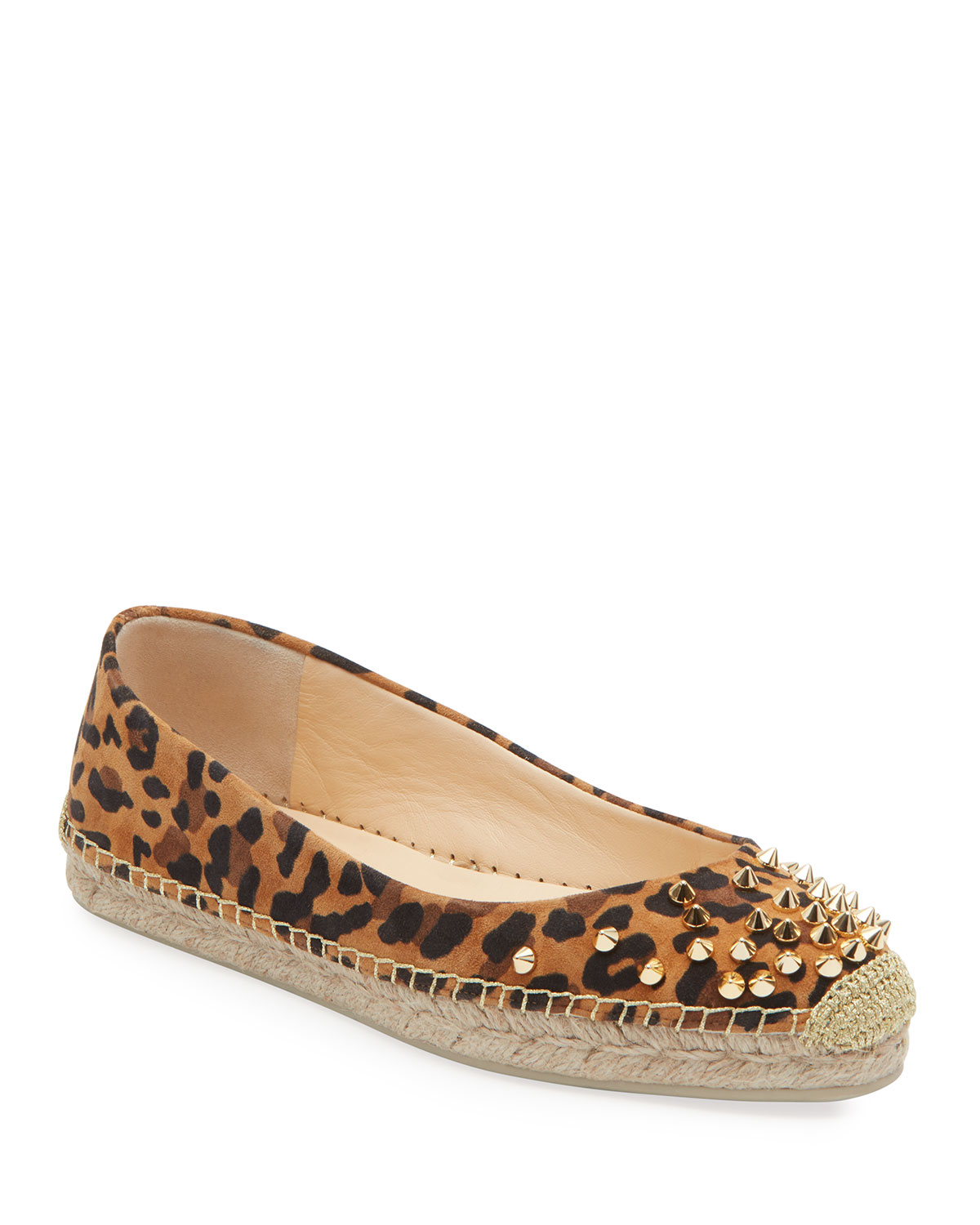 best loved 88fa8 1f3b4 Aliochette Flat Leopard Red Sole Espadrilles