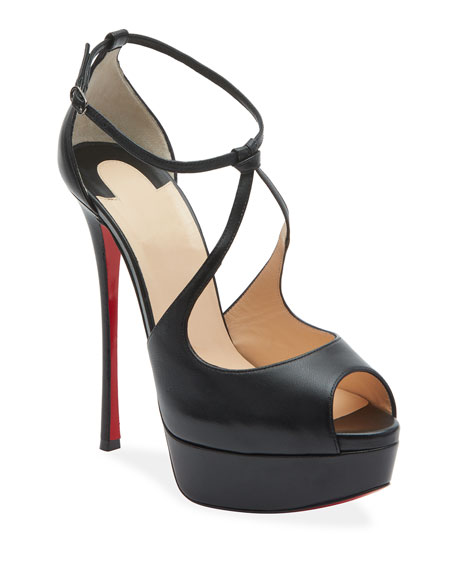 Christian Louboutin Alminalta Napa Red Sole Sandals