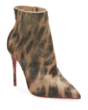 bf736a74b72 Christian Louboutin So Kate Hair Red Sole Booties