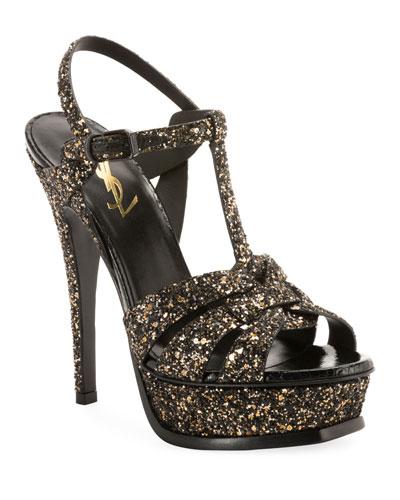 Tribute Glitter Platform Sandals
