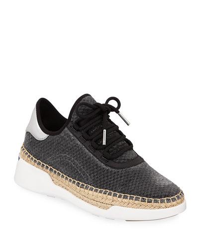 Finch Metallic Wedge Espadrille Sneakers