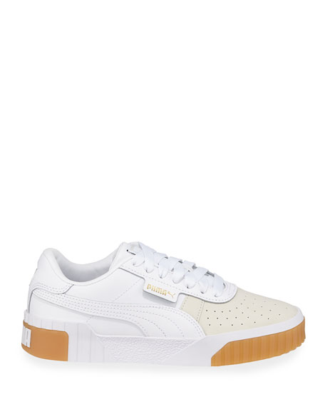 Puma Cali Exotic Low-Top Leather Sneakers