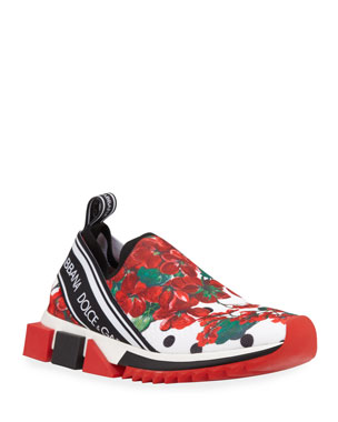 8db8f3f4168 Dolce   Gabbana Geranio Sorrento Stretch Sneakers